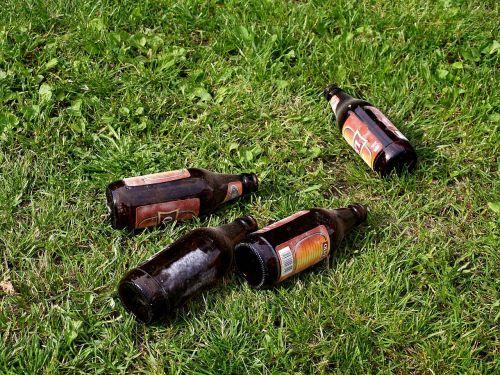beer bottles in cars