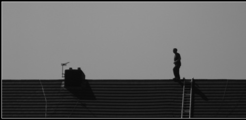 HORSEMAN ON THE ROOF
